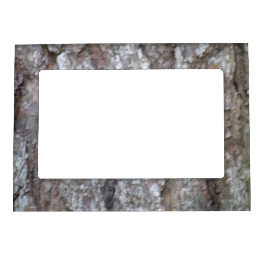 Pine Tree Bark Camo Natural Wood Camouflage Nature Magnetic Picture Frame