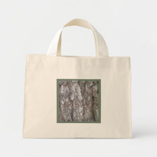 Pine Tree Bark Camo Wood Camouflage Nature Small Tote Bags