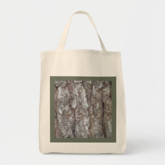 Pine Tree Bark Camo Wood Camouflage Reusable Tote Bags