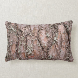 Pine tree bark lumbar pillow