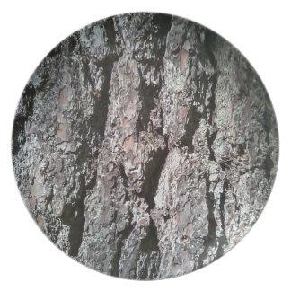 Pine Tree Bark Plate