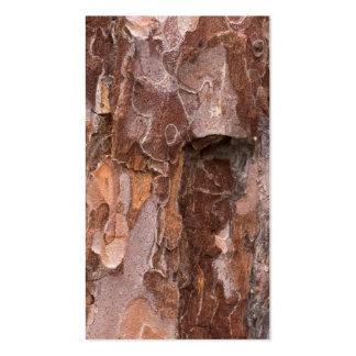 Pine tree bark texture business card templates
