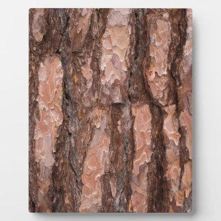 Pine tree bark texture plaque