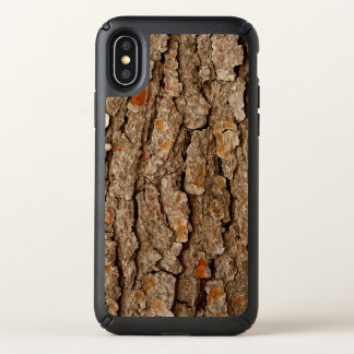 Pine Tree Bark Texture Speck iPhone X Case