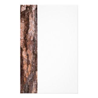 Pine tree bark texture stationery