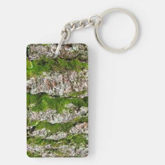 Pine Tree Bark With Moss Acrylic Keychains
