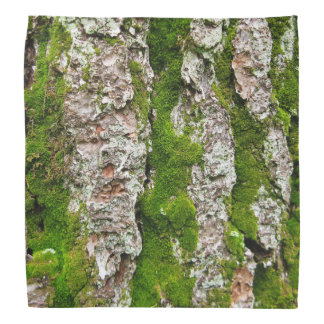 Pine Tree Bark With Moss Bandana