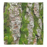 Pine Tree Bark With Moss Bandanas