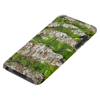 Pine Tree Bark With Moss iPod Touch Cover
