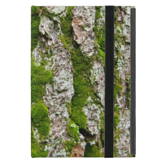 Pine Tree Bark With Moss Covers For iPad Mini