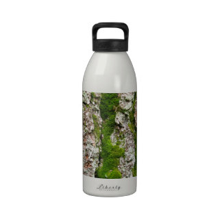 Pine Tree Bark With Moss Drinking Bottle