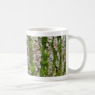 Pine Tree Bark With Moss Mugs
