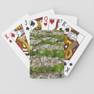 Pine Tree Bark With Moss Playing Cards