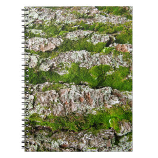 Pine Tree Bark With Moss Spiral Notebook