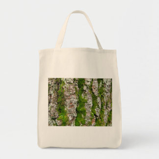 Pine Tree Bark With Moss Tote Bag