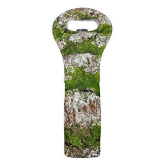 Pine Tree Bark With Moss Wine Bags