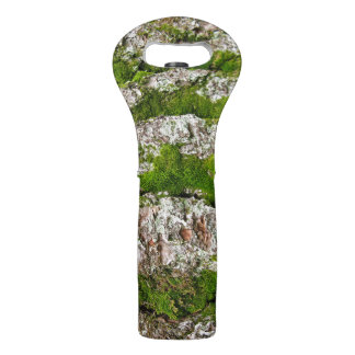 Pine Tree Bark With Moss Wine Bag
