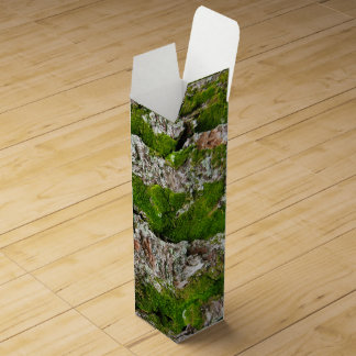 Pine Tree Bark With Moss Wine Box