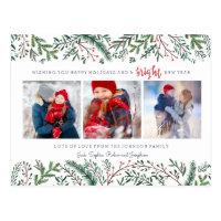 Pine Tree Berries   Postcard   Holiday Photo Card