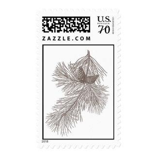 Pine Tree Branch Stamp