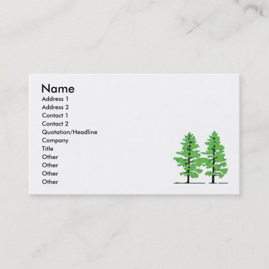 Pine tree business card zazzle pine tree business card colourmoves