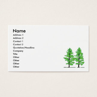 Pine Tree business card