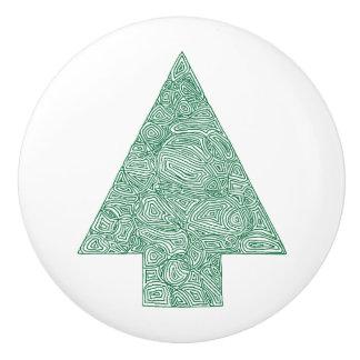 Pine Tree Ceramic Knob