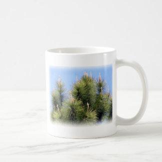 pine tree crosses coffee cup mug
