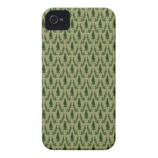 Pine Tree Damask Blackberry Case