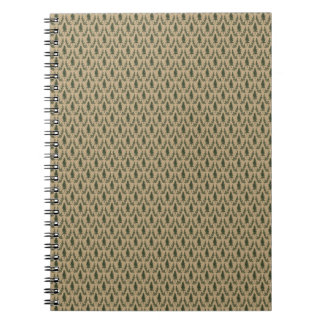 Pine Tree Damask Notepad Note Books