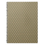 Pine Tree Damask Notepad Spiral Note Book