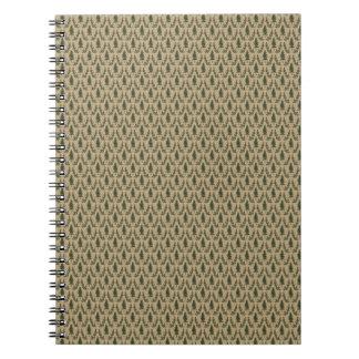 Pine Tree Damask Notepad Spiral Notebook