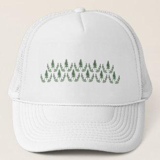 Pine Tree Damask Trucker Hat