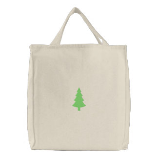 Pine Tree Embroidered Bags