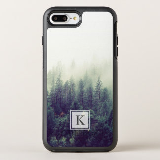 Pine Tree Forest Modern Chic Monogram Initial OtterBox Symmetry iPhone 8 Plus/7 Plus Case