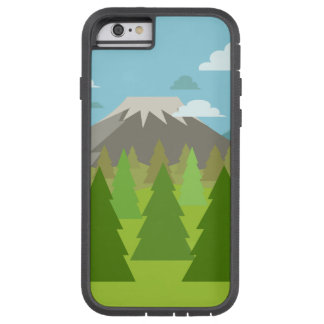 Pine Tree Forest under Volcano Mountain Tough Xtreme iPhone 6 Case