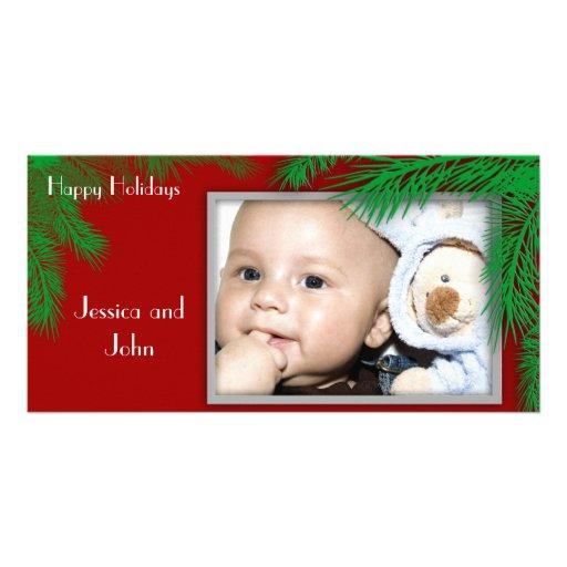Pine Tree Greetings Custom Photo Card
