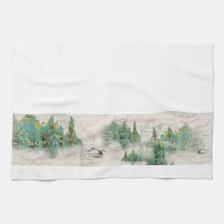 Pine Tree Justice Mercy Grace Kitchen Towel