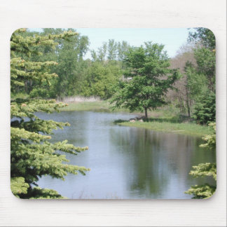 Pine Tree Pond Mouse Pad