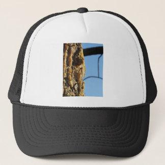 Pine tree resin on the trunk trucker hat