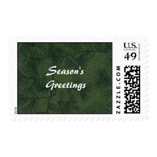 Pine Tree, Season'sGreetings Postage Stamps