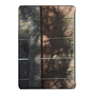 Pine Tree Shadows On Wood Cedar Fence iPad Mini Retina Covers