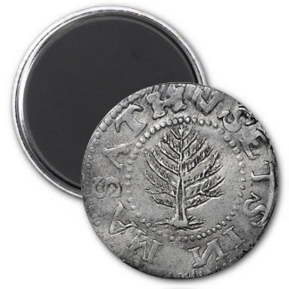 Pine Tree Shilling Coin Magnet