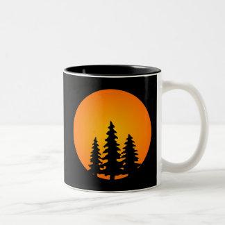 Pine Tree Silhouette Mugs