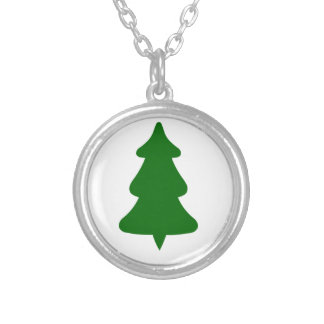 Pine Tree Silver Plated Necklace