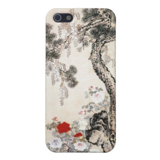 Pine Tree Stone and Wisteria Case For iPhone SE/5/5s