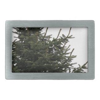 Pine Tree Top Rectangular Belt Buckle
