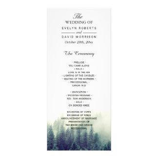 Pine Tree Wedding Program | Nature Forest Theme