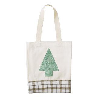 Pine Tree Zazzle HEART Tote Bag