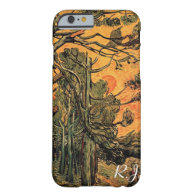 Pine Trees against a Red Sky with Setting Sun Barely There iPhone 6 Case